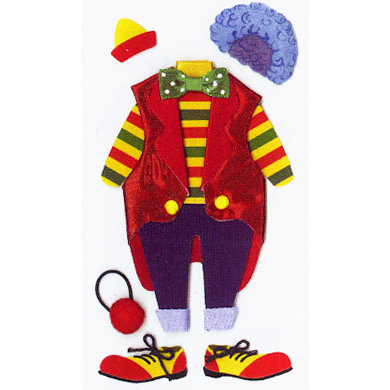EK Success - Jolee's Le Grande - Dimensional Stickers - Clown