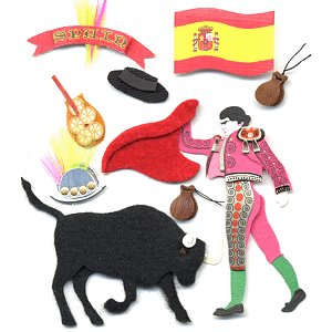Jolee's Boutique Destination Stickers - Spain, CLEARANCE
