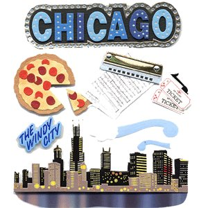 Jolee's Boutique Destination Stickers - Chicago