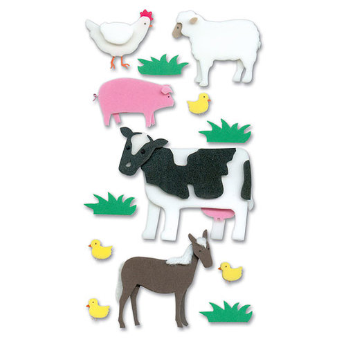 EK Success - Jolee's Foam Stickers - Farm Animals