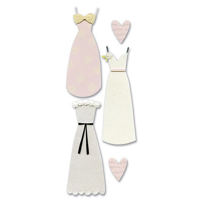 EK Success - Touch of Jolee's Dimensional Stickers - Wedding Dress, CLEARANCE