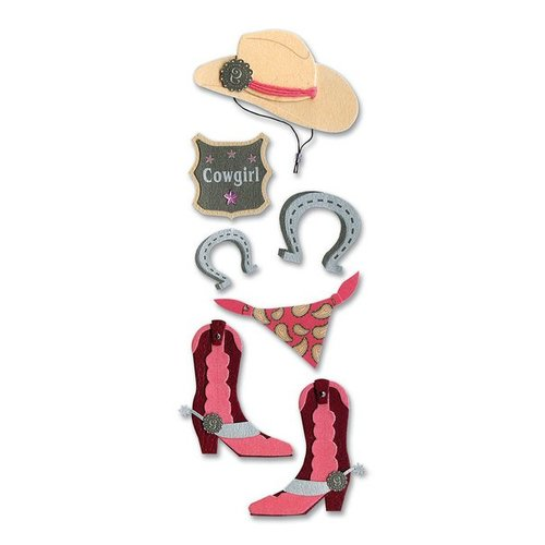 EK Success - Touch of Jolee's Dimensional Stickers  - Cowgirl