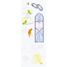 EK Success - Touch of Jolee's - Dimensional Stickers - Wedding, CLEARANCE