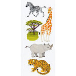 EK Success - Touch of Jolee's - Dimensional Stickers - Safari Animals