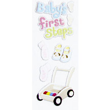 EK Success - Touch of Jolee's - Dimensional Stickers - Baby's First Steps
