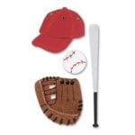 Jolee's Leatherettes Stickers - Baseball