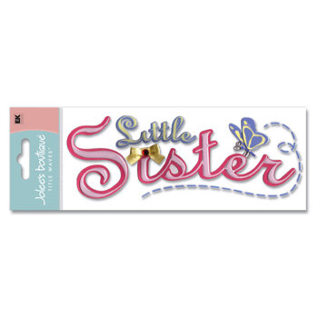 EK Success - Jolee's Boutique - Title Waves Dimensional Stickers - Little Sister