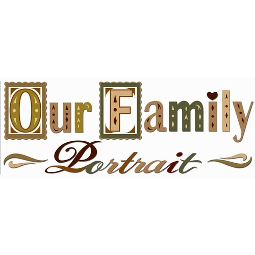 EK Success - Jolee's Boutique - Title Waves - Dimensional Stickers - Family Memories Title, BRAND NEW