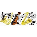 EK Success - Jolee's Boutique - Title Waves - Dimensional Stickers - Jazz Title