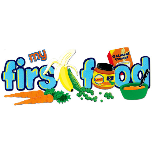EK Success - Jolee's Boutique - 3 Dimensional Title Stickers - My First Food