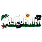 EK Success - Jolee's Boutique - 3 Dimensional Title Stickers - California