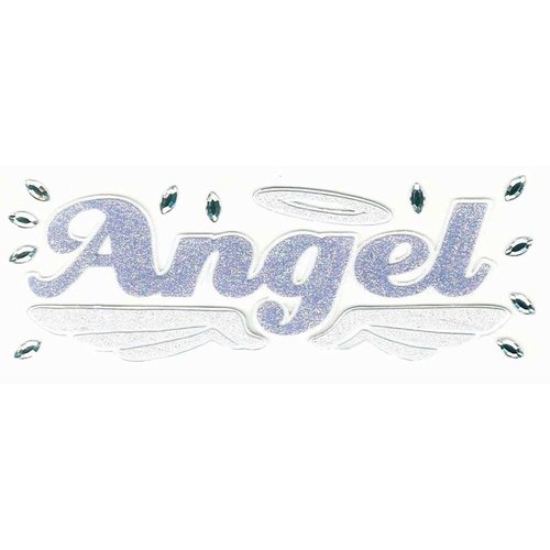 EK Success - Jolee's Boutique - Title Waves - Dimensional Stickers - Angel Title, CLEARANCE