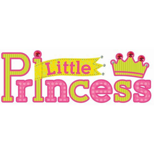 EK Success - Jolee's Boutique - Title Waves - Dimensional Stickers - Princess Title