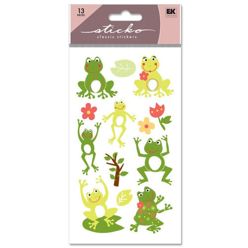 EK Success - Sticko Classic Stickers - Frog World, CLEARANCE