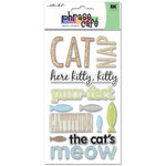 EK Success - Sticko Phrase Cafe - Epoxy Stickers - Cat, CLEARANCE