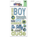 EK Success - Sticko Phrase Cafe - Epoxy Stickers - Boy, CLEARANCE