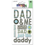 EK Success - Sticko Phrase Cafe - Epoxy Stickers - Dad