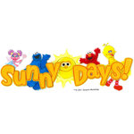 EK Success - Sesame Street Collection - 3 Dimensional Title Stickers with Epoxy Accents - Sunny Days