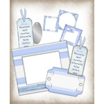 E-Kit Elements (Digital Scrapbooking) - Baby Blue 1