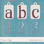Digital Element Kit - Celebration In July - Alphabet