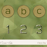 Digital Element Pack - Chore Day - Alphabet