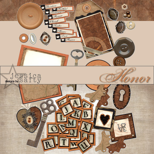 E-Kit Elements (Digital Scrapbooking) - Honor 2