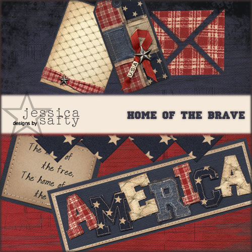 E-Kit Elements (Digital Scrapbooking) - Home of the Brave 1