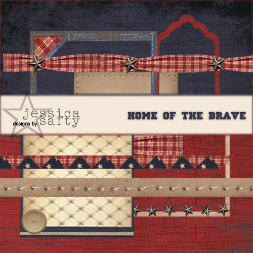 E-Kit Elements (Digital Scrapbooking) - Home of the Brave 3