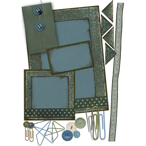 E-Kit Elements (Digital Scrapbooking) - Teal Tranquility 2