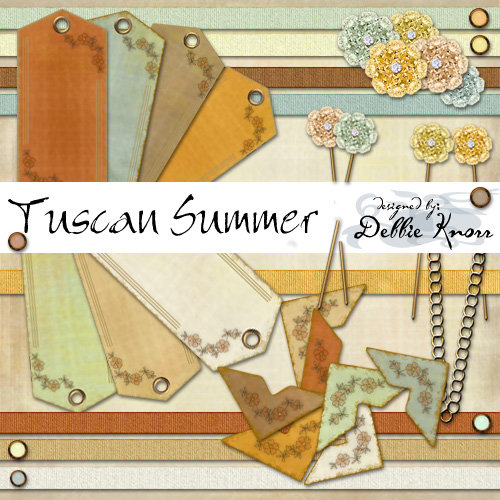 Digital Element Kit - Tuscan Summer