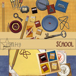 E-Kit Elements (Digital Scrapbooking) - School 2