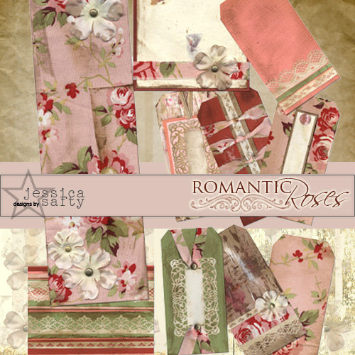 E-Kit Elements (Digital Scrapbooking) - Romantic Roses 1
