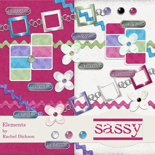 Digital Element Kit - Sassy