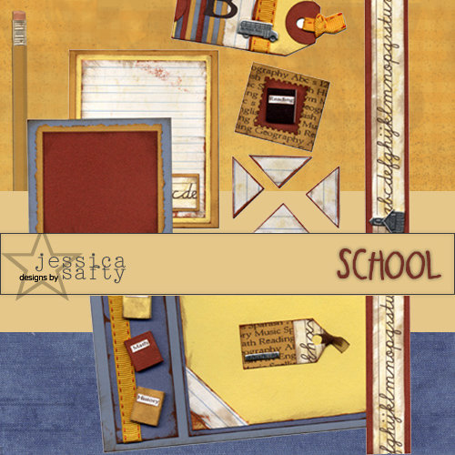E-Kit Elements (Digital Scrapbooking) - School 1