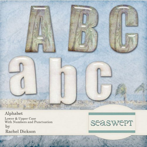 Digital Element Kit - Sea Swept - Alphabet