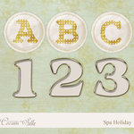 Digital Element Kit - Spa Holiday - Alphabet