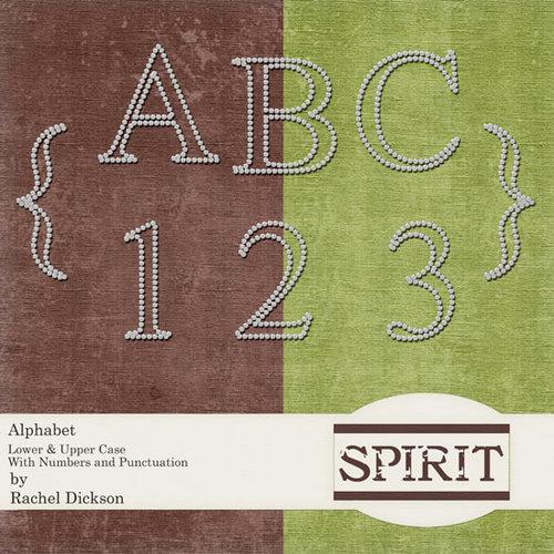 Digital Element Pack - Spirit - Alphabet