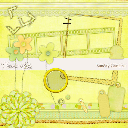 Digital Element Pack - Sunday Gardens