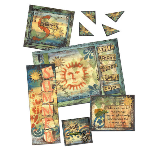 E-Kit Elements (Digital Scrapbooking) - Sunset Elements 1