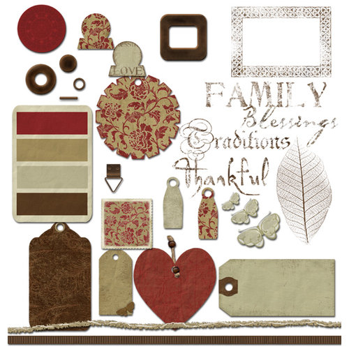 Digital Element Kit - Thankful