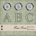 Digital Element Kit - True Love - Alphabet