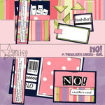 E-Kit Elements (Digital Scrapbooking) - No! A Toddlers Creed: Girl