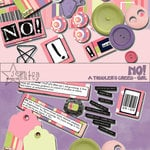 E-Kit Elements (Digital Scrapbooking) - No! A Toddlers Creed: Girl 2