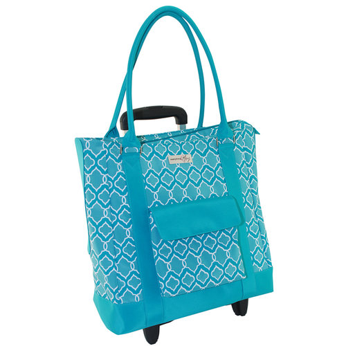 Everything Mary - Rolling Yarn Tote - Blue