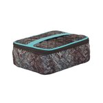 Everything Mary - Small Quilted Sewing Organizer - Turquoise and Chocolate