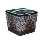 Everything Mary - Deluxe Quilted Sewing Organizer - Turquoise and Chocolate