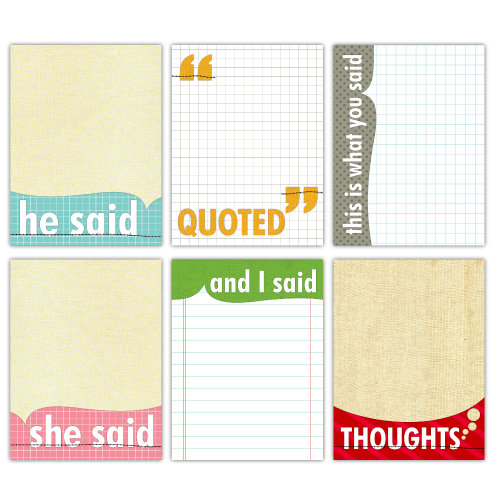 Elle's Studio - Quotables - 3 x 4 Tags - Note