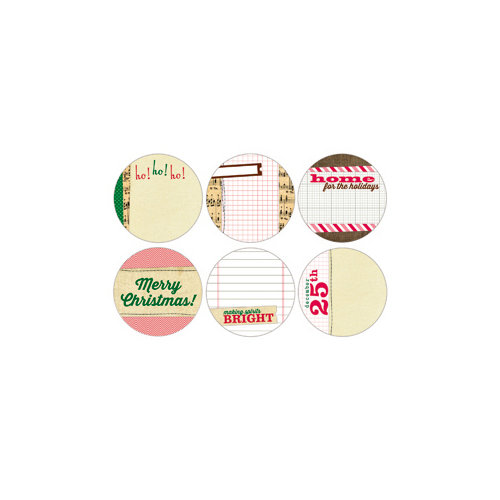 Elle's Studio - Be Merry Collection - Christmas - Tags - 3 Inch Circles