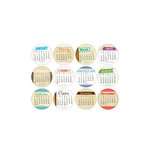 Elle's Studio - 3 Inch Circle Tags - 2013 Layered Calendars