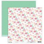Elle's Studio - Cienna Collection - 12 x 12 Double Sided Paper - Flowers